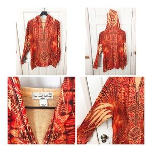 Sweaters - Gorgeous orange NWT live and let live hoodie 3x